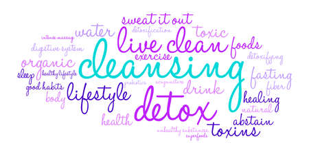 Cleansing word cloud on a white background. Фото со стока - 67348191