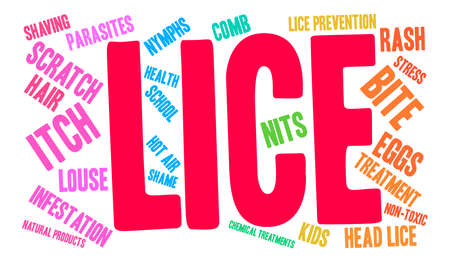 Lice word cloud on a white background. Banco de Imagens - 67348222