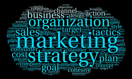 timeframe: Marketing word cloud on a black background.