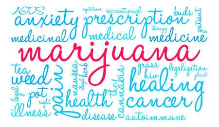 legislators: Marijuana word cloud on a white background. Stock Photo