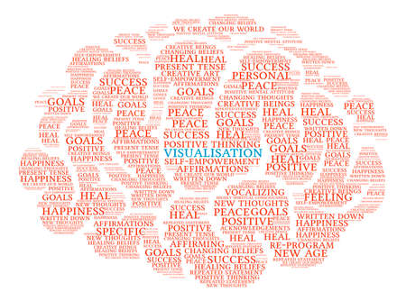 Visualisation Brain word cloud on a white background.