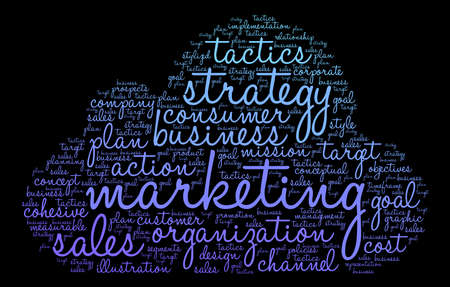 cohesive: Marketing word cloud on a black background.