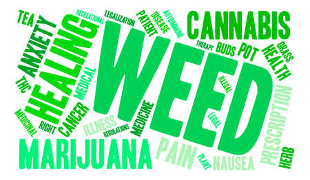 autoimmune: Weed word cloud on a white background.