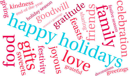 delighted: Happy word cloud on a white background.