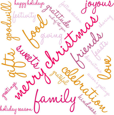 Holiday Season word cloud on a white background. Illustration