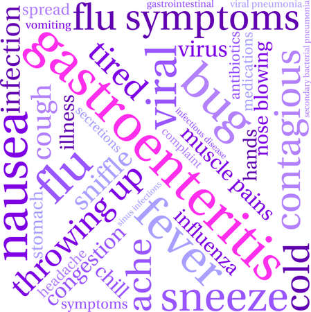 Gastroenteritis word cloud on a white background.