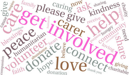 goodness: Get Involved word cloud on a white background.