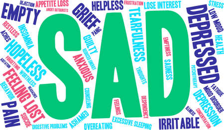 worthless: Sad word cloud on a white background.