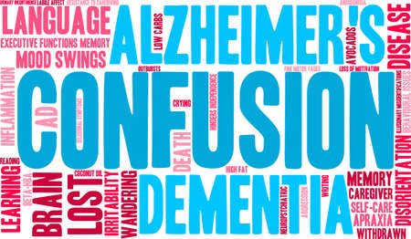 illusionary: Confusion word cloud on a white background.