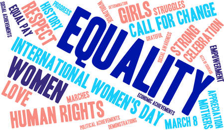 voting rights: Equality word cloud on a white background.