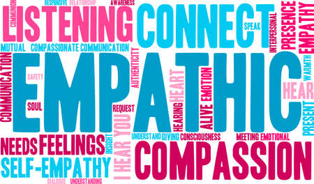 Empathic word cloud on a white background. 向量圖像