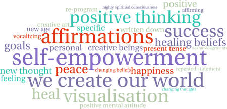 spiritual beings: Self Empowerment word cloud on a white background.