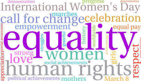 call history: Equality word cloud on a white background.
