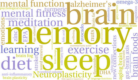 Memory word cloud on a white background. Stock Illustratie
