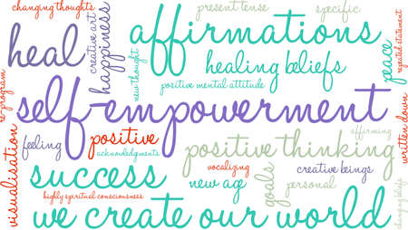 Self Empowerment word cloud on a white background.