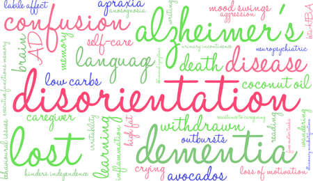 wandering: Disorientation word cloud on a white background.
