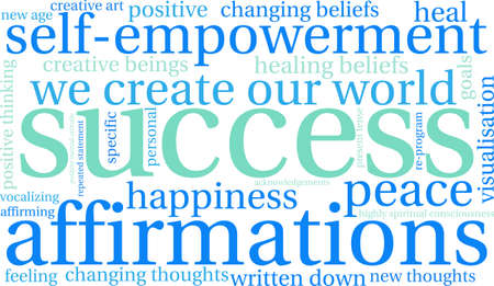 spiritual beings: Success word cloud on a white background.