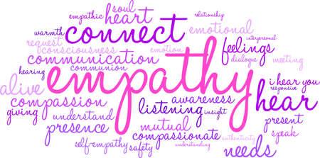 empatia: Empatía Nube de la palabra sobre un fondo blanco. Vectores