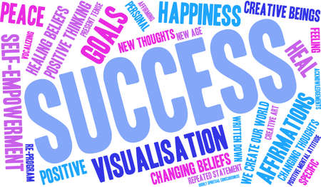 beings: Success word cloud on a white background.