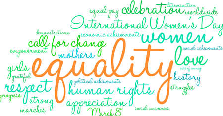 Equality word cloud on a white background.