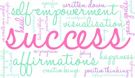 success word: Success word cloud on a white background.