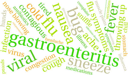 Gastroenteritis word cloud on a white background. Illustration