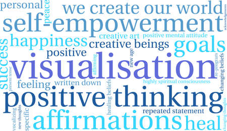 specific: Visualisation word cloud on a white background.