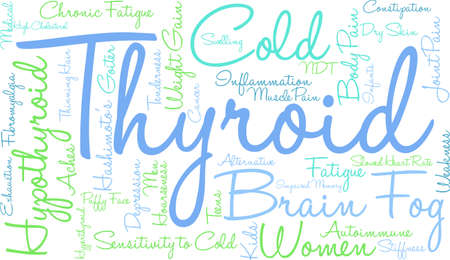 dry skin: Thyroid word cloud on a white background.