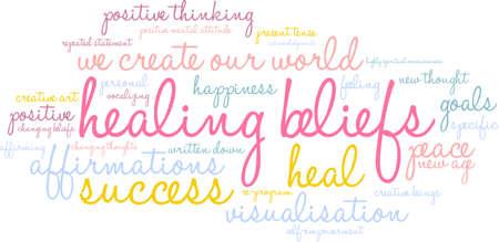 spiritual growth: Healing Word Cloud