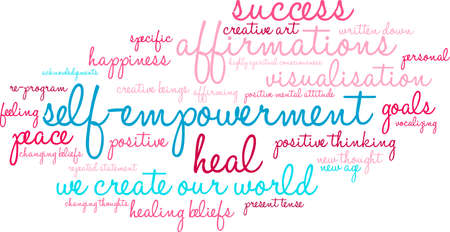 beings: Self Empowerment word cloud on a white background.