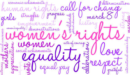 voting rights: Womens Rights word cloud on a white background. Illustration