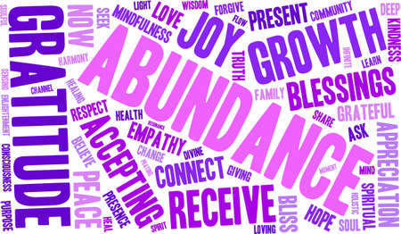 Abundance word cloud on a white background. Illustration
