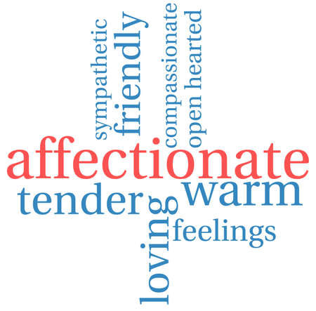 Affectionate word cloud on a white background. Иллюстрация