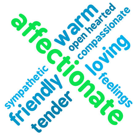Affectionate word cloud on a white background. Illustration