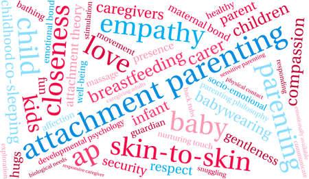 Attachment Parenting word cloud on a white background. Banco de Imagens - 68244372