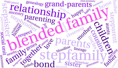 Family word cloud on a white background. Stock Vector - 68244493