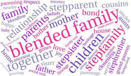 Family word cloud on a white background. Stock Vector - 68244507