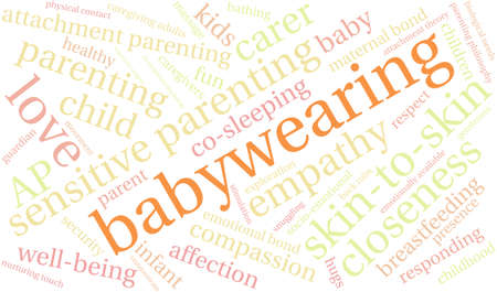 Baby Wearing word cloud on a white background. Banco de Imagens - 68244629
