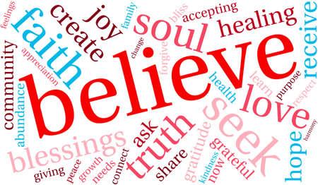 believe: Believe Word Cloud