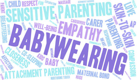 Baby Wearing word cloud on a white background.