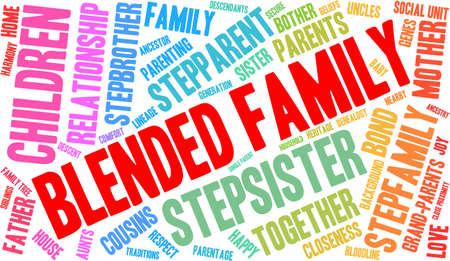 family unit: Family word cloud on a white background.