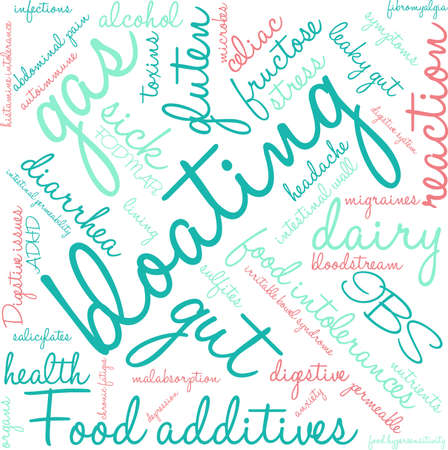 Bloating word cloud on a white background. Stock Vector - 94693481