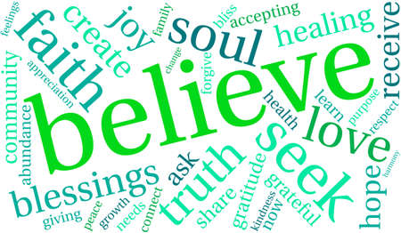 channeling: Believe Word Cloud