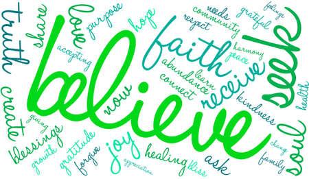 creer: Nube de la palabra creer