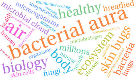 Bacterial Aura word cloud on a white background. Stock Vector - 68295736