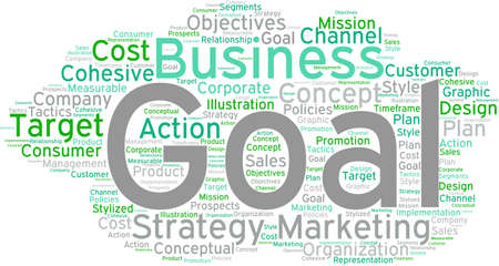Business Goal word cloud on a white background. Stock fotó - 68295921