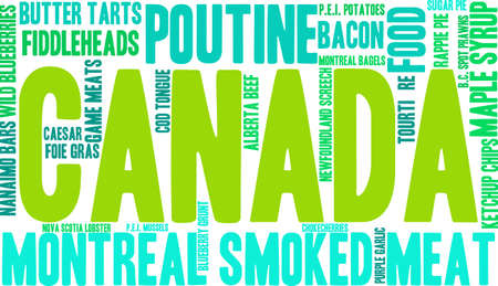 Canada Food word cloud on a white background. Stock fotó - 68295957
