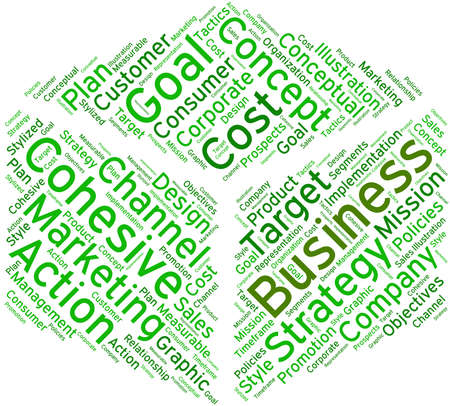 Business word cloud on a white background.