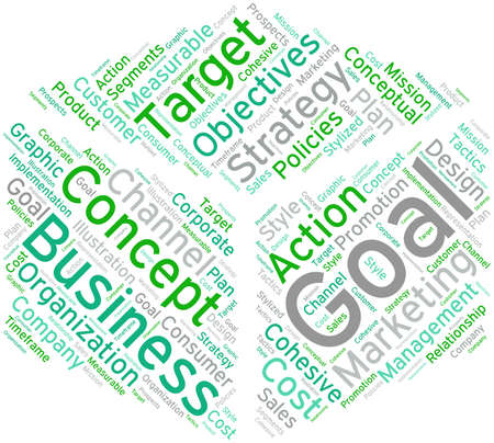 Business Goal word cloud on a white background. 向量圖像