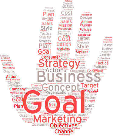 timeframe: Business Goal word cloud on a white background. Illustration